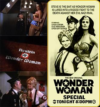 Fotogramas y anuncio de Fausta, The Nazi Wonder Woman (1976)